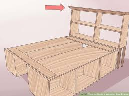 How To Make A Platform Bed From Wooden Pallets by 3 Ways To Build A Wooden Bed Frame Wikihow