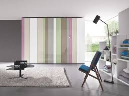 Floor To Ceiling Tension Rod Curtain by Master Bedroom Wardrobe Designs Platform Bed Kingsize Bed Striped