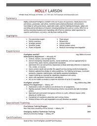 resume for firefighter paramedic 8 best resume images on firefighter resume
