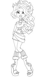 Clawdeen Wolf Style Coloring Pages