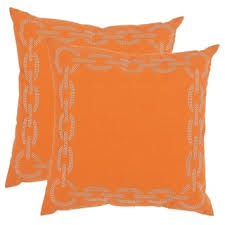 Orange Throw Pillows For Less