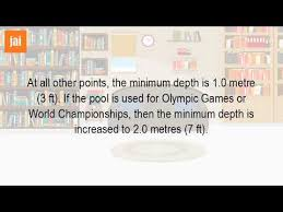 How Deep Is An Olympic Sized Swimming Pool
