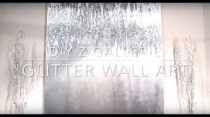 DIY Z Gallerie Glitter Wall Art