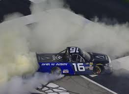 100 Win Truck Brett Moffitt Takes Win In Atlanta On Kyle Buschs Pit Mishap