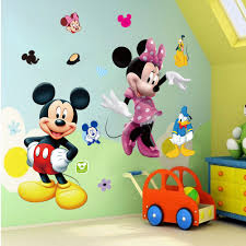 Mickey Mouse Bathroom Wall Decor by Online Buy Wholesale Mickey Mouse Wall Mural From China Mickey