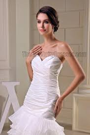 chic strapless white sweetheart high low evening dress prom gown