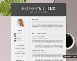 Resume Template For Job Application 2019-2020, CV Template, Cover Letter,  1-3 Page, Word Resume, Modern And Creative Resume, Professional Resume, Job  ...