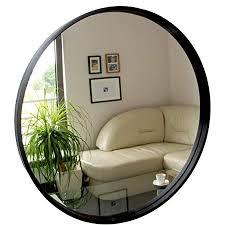 bd rund spiegel wandspiegel 50cm durchmesser holz schwarz