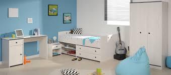 schlafzimmer 4 tlg inkl 90x200 stauraumbett u schreibtisch smoozy 26a parisot kiefer weiss blau