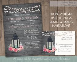 Lantern Wedding Invitation Set