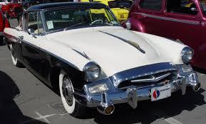 100 1955 Studebaker Truck Speedster Black White Front Angle