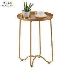 nordic goldene eisen faltbare kaffee tisch wohnzimmer sofa