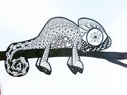 Chameleon Zentangle Art Project For Kids