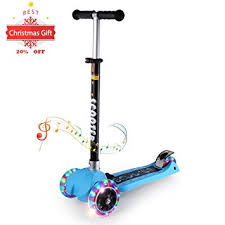 Kick Scooters For Kids OUTAD Super Tough 3 Wheel Stunt Scooter With Adjustable