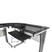 Small Glass And Metal Computer Desk by Amazon Com Homcom 64