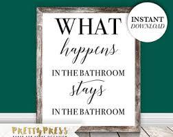 Funny Bathroom Art Etsy by Funny Bathroom Sign Etsy