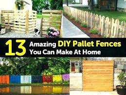 Fence Made From Pallets Wood