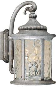 vaxcel ow39053gs bathesda traditional gilded silver exterior wall