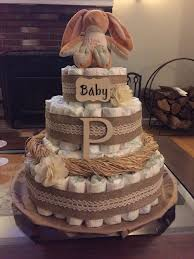 Rustic Diaper Cake