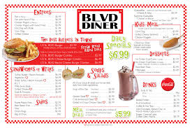 Sofa King Burger Menu by Boulevard Diner See The Delicious Menu For Boulevard U0027s Own In