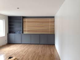 Ikea Mandal Headboard Diy by Diy Wood Slats Tv Accent Wall Reimagine Designs