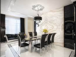 Unique Classic White Marble Dining Room Black Furniture Inspiration Within Complete Guide Decor And
