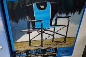 Timber Ridge Folding Lounge Chair by Costco Sale Timber Ridge Director U0027s Chair With Side Table