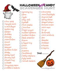 Operation Gratitude Halloween Candy by Halloween Non Candy Scavenger Hunt Printable 730 Sage Street