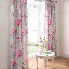 vorhang ideen vintage stil romantisch rosa