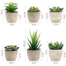gomaihe kunstpflanze künstliche sukkulenten pflanze 6 stücke
