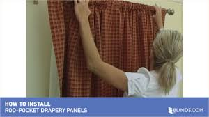 Levolor Curtain Rod Assembly by How To Install Drapery Panels Video Rod Pocket Window Curtains