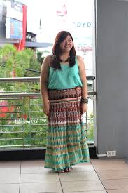 Plus Size Asian Blogger Tribal Print Maxi Skirt How To Wear
