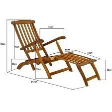 Deck Lounger 3 Of Garden Chair Pool Sun Wooden Folding Steamer Outdoor Patio Recliner Loungers
