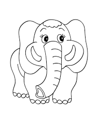 Cute Elephant Printable Coloring Pages
