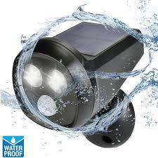 best waterproof outdoor solar wall light 2led solar powered pir