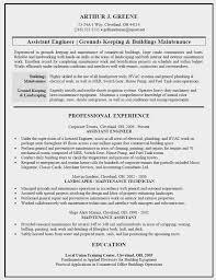 Resume Templates For Maintenance Technician Luxury Building