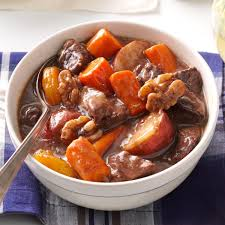 Autumn SlowCooked Beef Stew Recipe Taste of Home