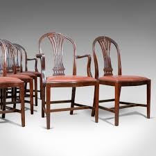 Details About Antique Set Of Six Dining Chairs, Hoop Back, Manner Of  Hepplewhite, Circa 1930 4 Hepplewhite Style Mahogany Yellow Floral Upholstered Ding Chairs Style Ding Table And Chairs Pair George Iii Mahogany Armchairs Antique Set Of 8 English Georgian 12 19th Century Elegant Mellow Edwardian Design Antiques World 79 Off Wood Hogan Side Chair Eight Late 18th Of