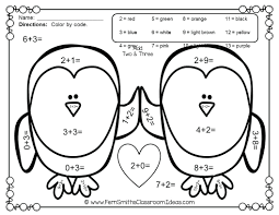 Coloring Pages Mesmerizing Valentines Color By Number Valentine Math