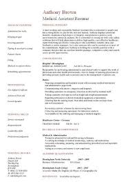 Medical Resume Templates Free Assistant Samples Template Examples
