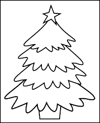Image Of Christmas Tree Coloring Pages For Kids Printable