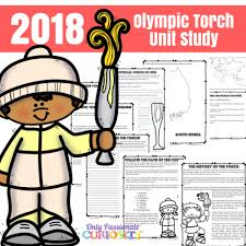 Winter Olympics Torch Relay Unit Study Only Passionate Curiosity