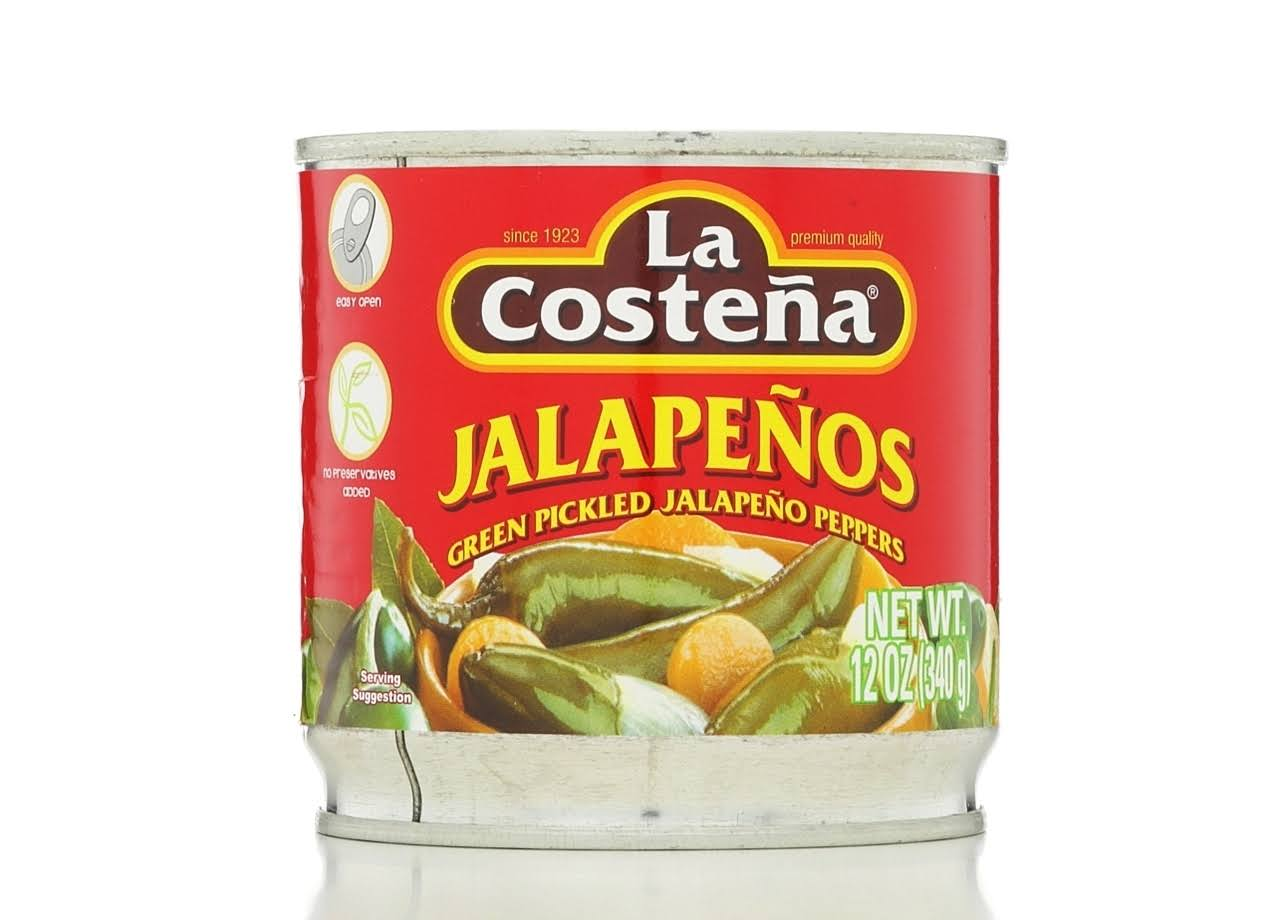 La Costena Green Pickled Jalapeno Peppers - 340g