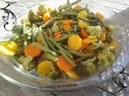 cuisiner legumes légumes vapeur haricots carottes petit pois et brocolis au