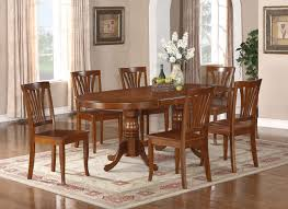 7PC Oval Newton Dining Room Set Extension Leaf Table 6 Chairs 42 InX78 In
