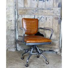Aviation • Aviator Industrial Tan Leather Office Chair