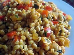 cuisiner les poivrons recette de blé ebly au poulet et poivron