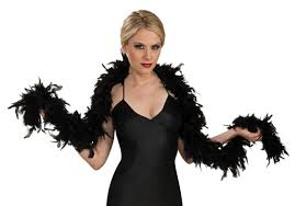 Halloween Express Austin Powers by 1920s Black Fashion Feather Boa 20s Halloween Costume Accessory 7101