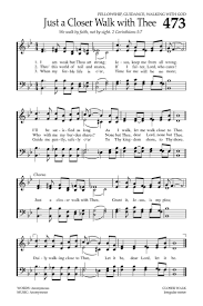 Just A Closer Walk With Thee Baptist Hymnal 2008 Page 648 Christian Songs