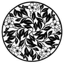 Cut Paper Design Blossom Circle